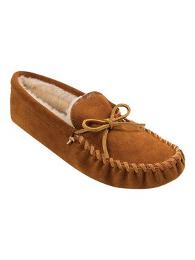 Minnetonka Men's Traditional Pile Lined Softsole Moccasin Slipper
