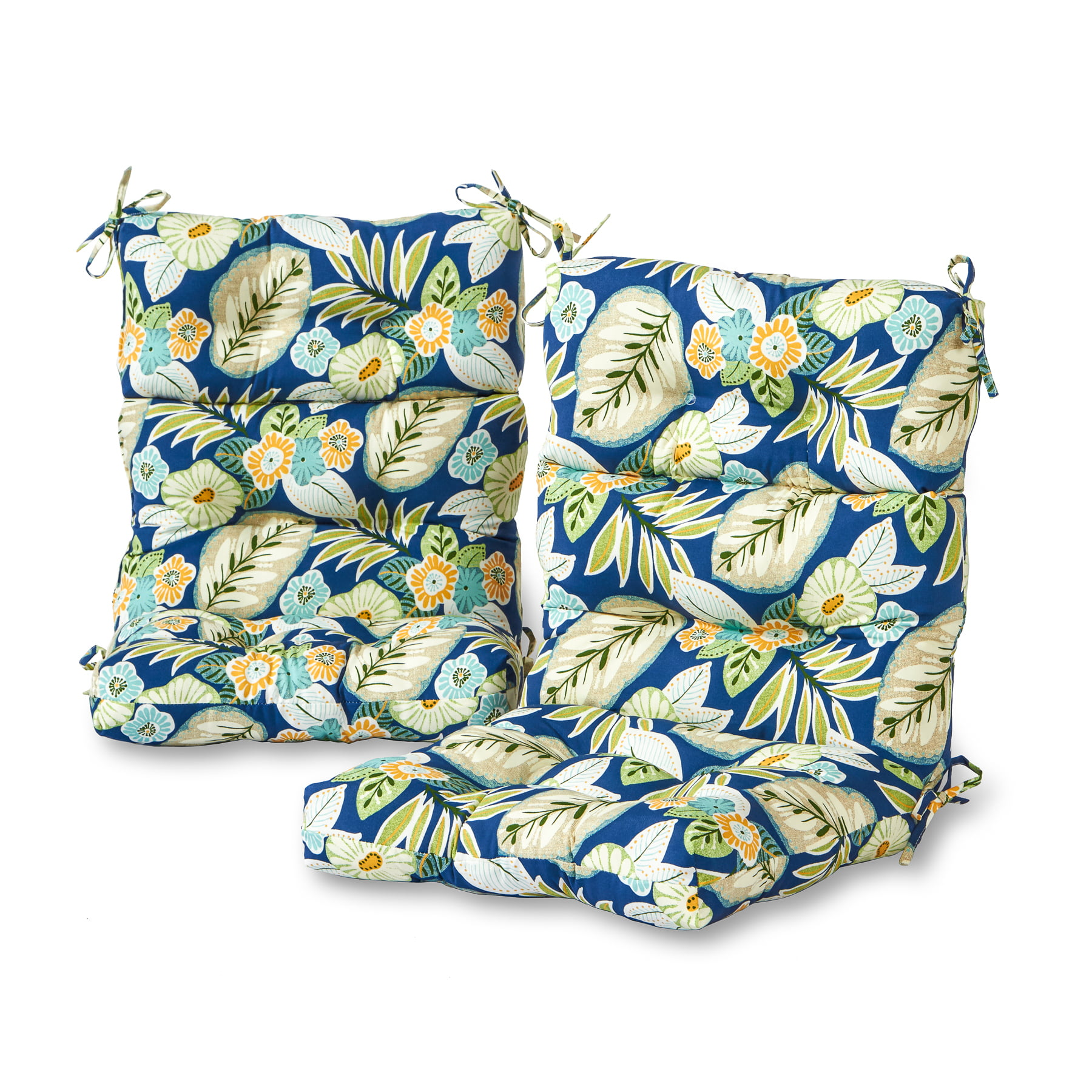 Greendale Home Fashions Marlow Outdoor High Back Chair Cushion, Set of 2 by Greendale Home Fashions