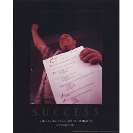 Culturenik IMPET0028 Success - Cs Gets Degrees Poster Print - 8 x 10 ()