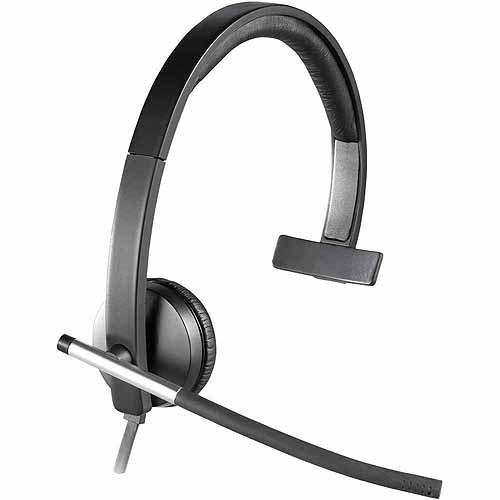 Logitech H650e USB Single-Ear Corded Headset, 981-000513