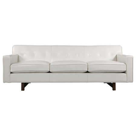 Kardiel Kardiel Kennedy Mid-Century Modern Classic Sofa, White Aniline  Leather