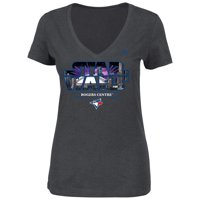 Toronto Blue Jays Majestic Women's 2015 Star Wars Day Stadium T-Shirt - Charcoal