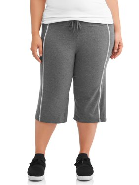 Athletic Works Women's Plus Size Dri More Piped Bermuda