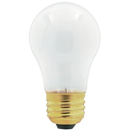 Universal Frosted Appliance Light Bulb, 40 Watt Incandescent, 130 Volt, 40A15 Make it easy to clearly see the inside of your appliances each and every time you use them with a Universal Frosted Appliance Light Bulb, 130 Volts. The semi-opaque glass provides a healthy amount of light, without being too bright for the space. Its universal design fits nicely into a variety of appliances, such as microwaves, refrigerators and ovens. Simple place this globe in your fixture's existing housing and give it a few quick turns to illuminate the area. Keep multiple packs of these 40-watt incandescent light bulbs on hand at any given time for a handy replacement for any burnt-out light bulbs in your appliances.
