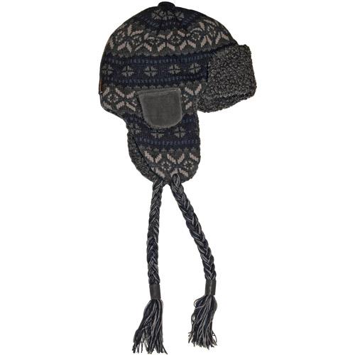 MUK LUKS Sweater Vest Knit Button Top Trapper Hat