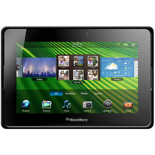 BlackBerry PlayBook Case, Rugged Silicone Skin Jelly Slim Protective Heavy Duty Shockproof Case for BlackBerry PlayBook - Black