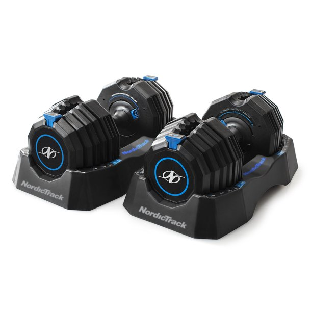 NordicTrack Select-a-Weight 55 Lb. Adjustable Dumbbell Set, Pair