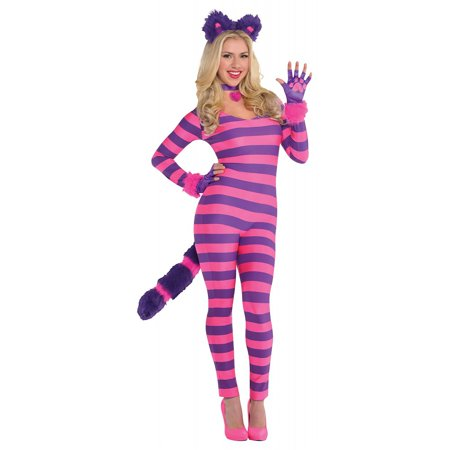 Lady Cheshire Cat Adult Costume - X-Large (White Cat Ears Costume)