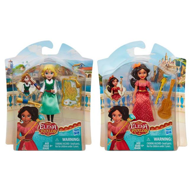 Hasbro HSBC0380 Disney Princess Elena Small Doll, Assorted Colors - Set of 8
