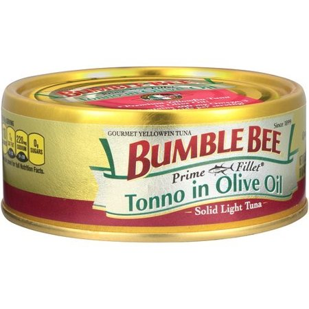 (3 Pack) Bumble Bee Prime Fillet Tonno in Olive Oil, Canned Tuna Fish, High Protein Food, 5oz