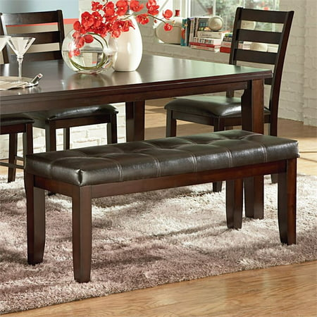 (Steve Silver Sao Paulo Dining Bench, Brown)