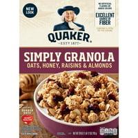 Quaker, Simply Granola, Honey, Raisins & Almonds, 28 oz Box