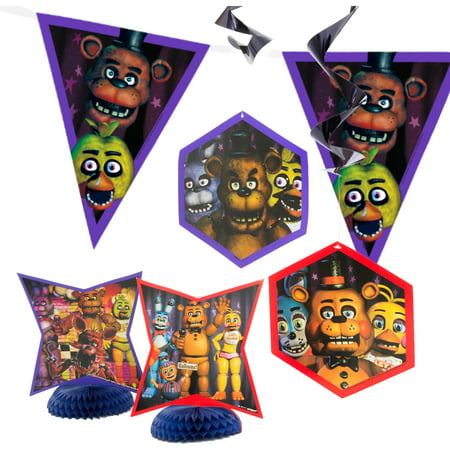 Five Nights at Freddy's Party Decorating Kit, 7pc - Unique Industries Party Supplies