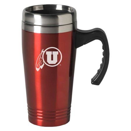 - Utah Utes Engraved 16oz Stainless Steel Travel Mug - Red