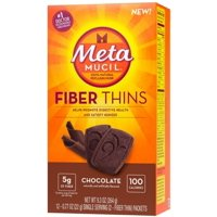 4 Pack - Metamucil  Chocolate Fiber Thins Fiber Supplement, 12 ea