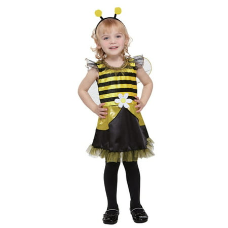 Totally Ghoul Toddler Girl Lil Bumblebee Fairy Costume Dress - Girls Bumblebee Costume