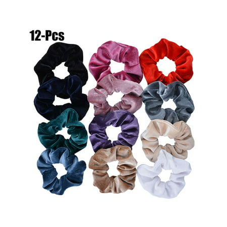 Coxeer Hair Scrunchies Set No Damage Traceless Elastic Scrunchies Bobbles Hair Ties for