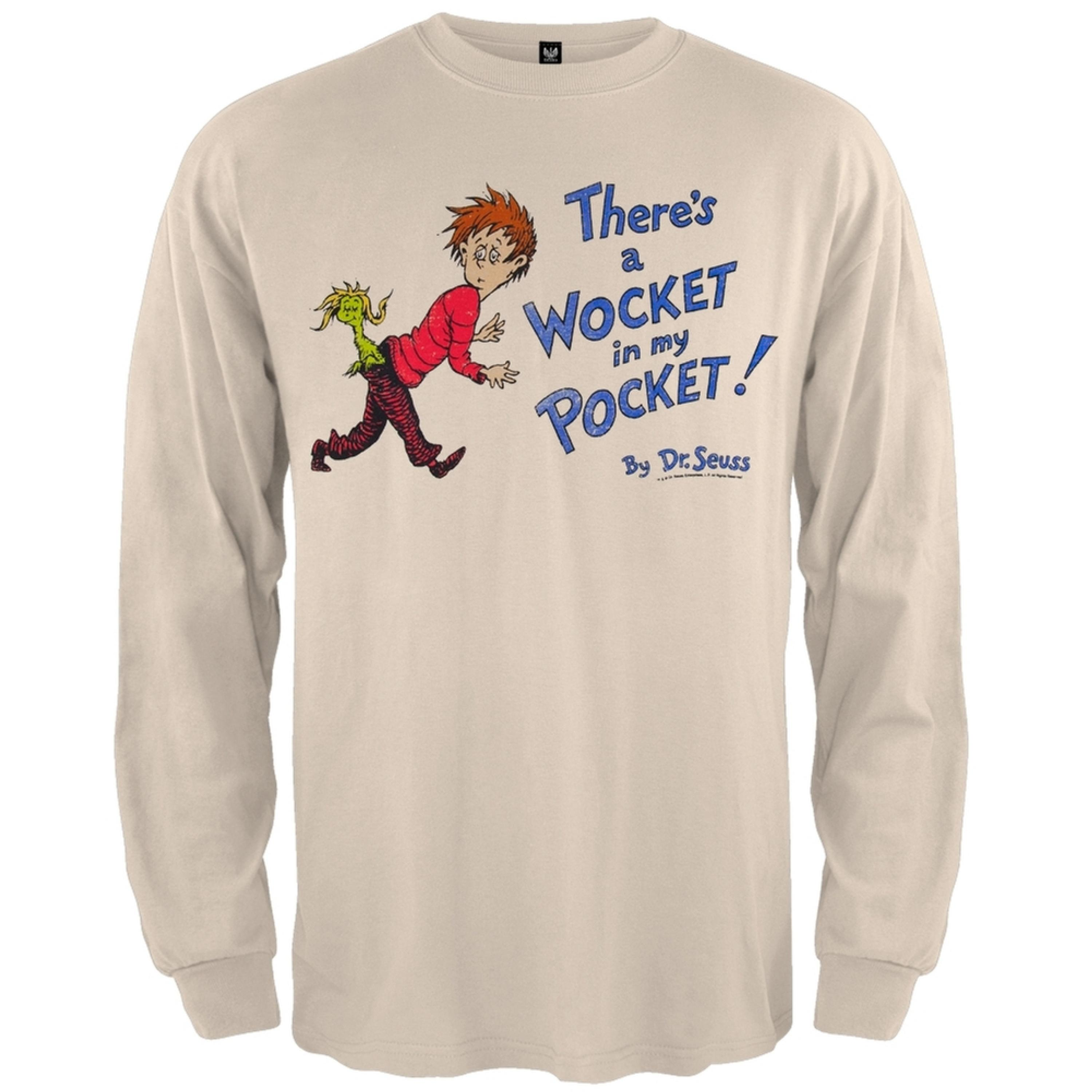 Dr. Seuss - Wocket Cover Distressed Long Sleeve T-Shirt