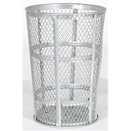 Standard Expanded Metal (Vestil Manufacturing TR-MXR-48-GN 48 gal Round Receptical Expanded Metal Trash Cans - Galvanized )