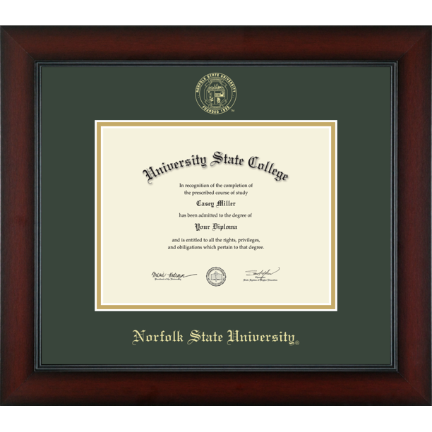 Norfolk State University Officially Licensed Associate S Gold Embossed Diploma Frame Diploma Size 9 X 7 Walmart Com Walmart Com