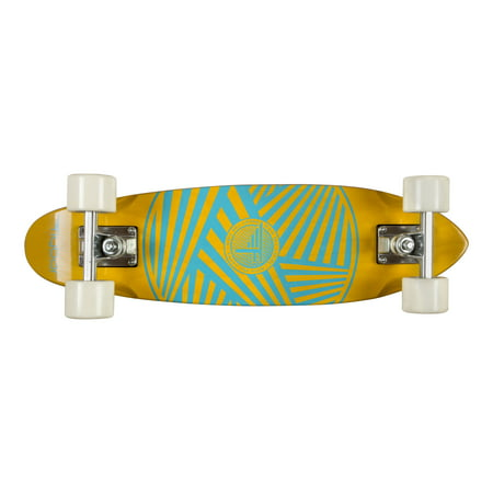 """Flybar Skate Cruiser Boards – 24"""" Strong 7 Ply Canadian Maple Complete Skateboards - 60mm PU Wheels With High Speed ABEC 9 Bearings Zig Zag (Sector 9 Cosmic Abec 7 Bearings Review)"""