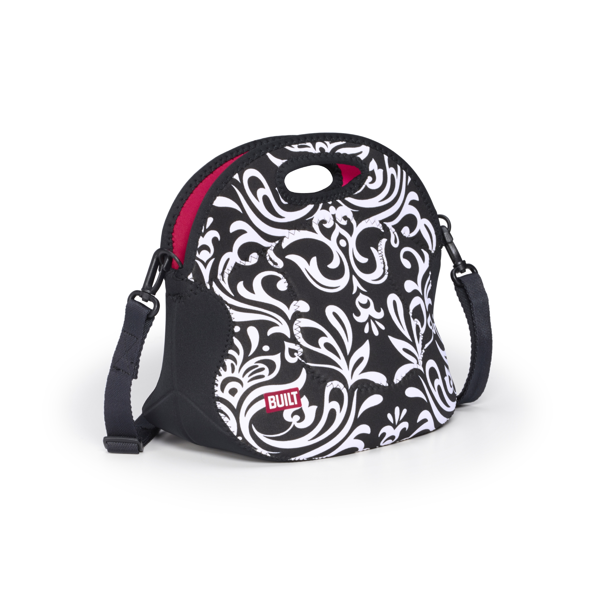 Lifetime Brands BUILT NY Black and White Damask Spicy Relish Lunch Tote