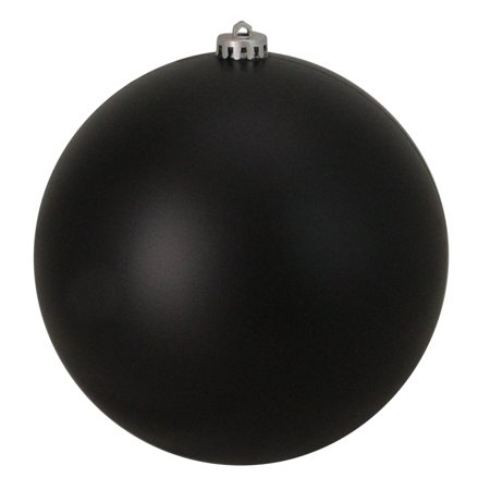 Jet Black Shatterproof Matte Christmas Ball Ornaments 6