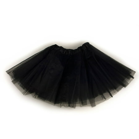 Triple-Layer Junior Size Tutu - Black](Sandy Pink Ladies Costume)