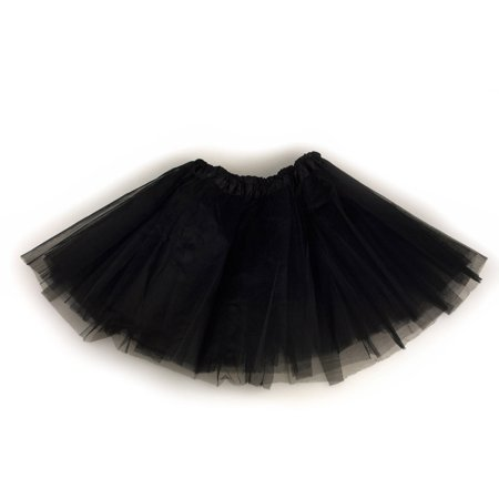Black Tutu Costumes (Triple-Layer Junior Size Tutu -)