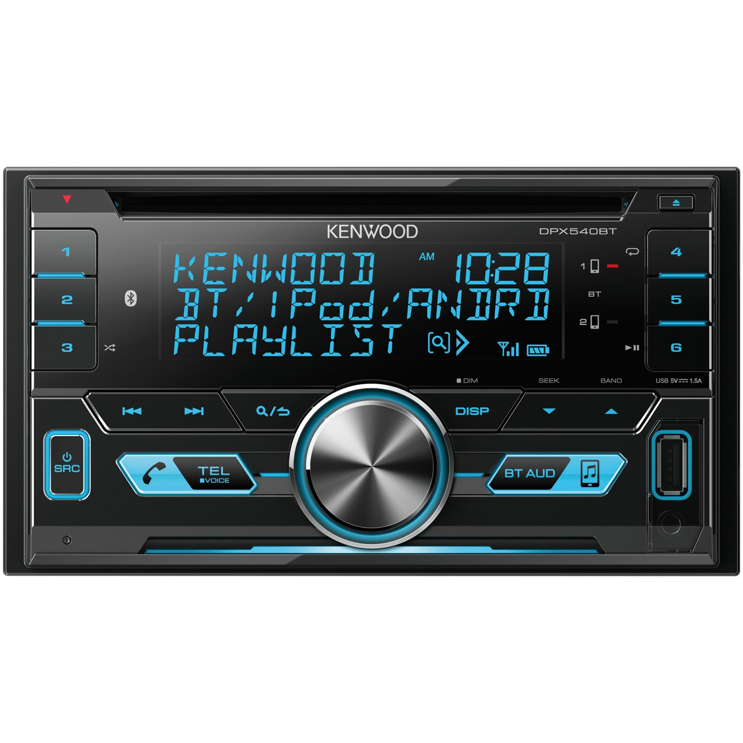 Kenwood DPX540BT Double-Din In-Dash AM/FM Media Receiver With Bluetooth