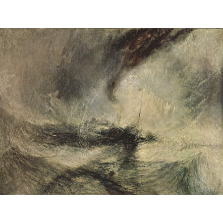 Framed Art for Your Wall Turner, Joseph Mallord William - Snow storm steam ship from port entrance 10 x 13 Frame