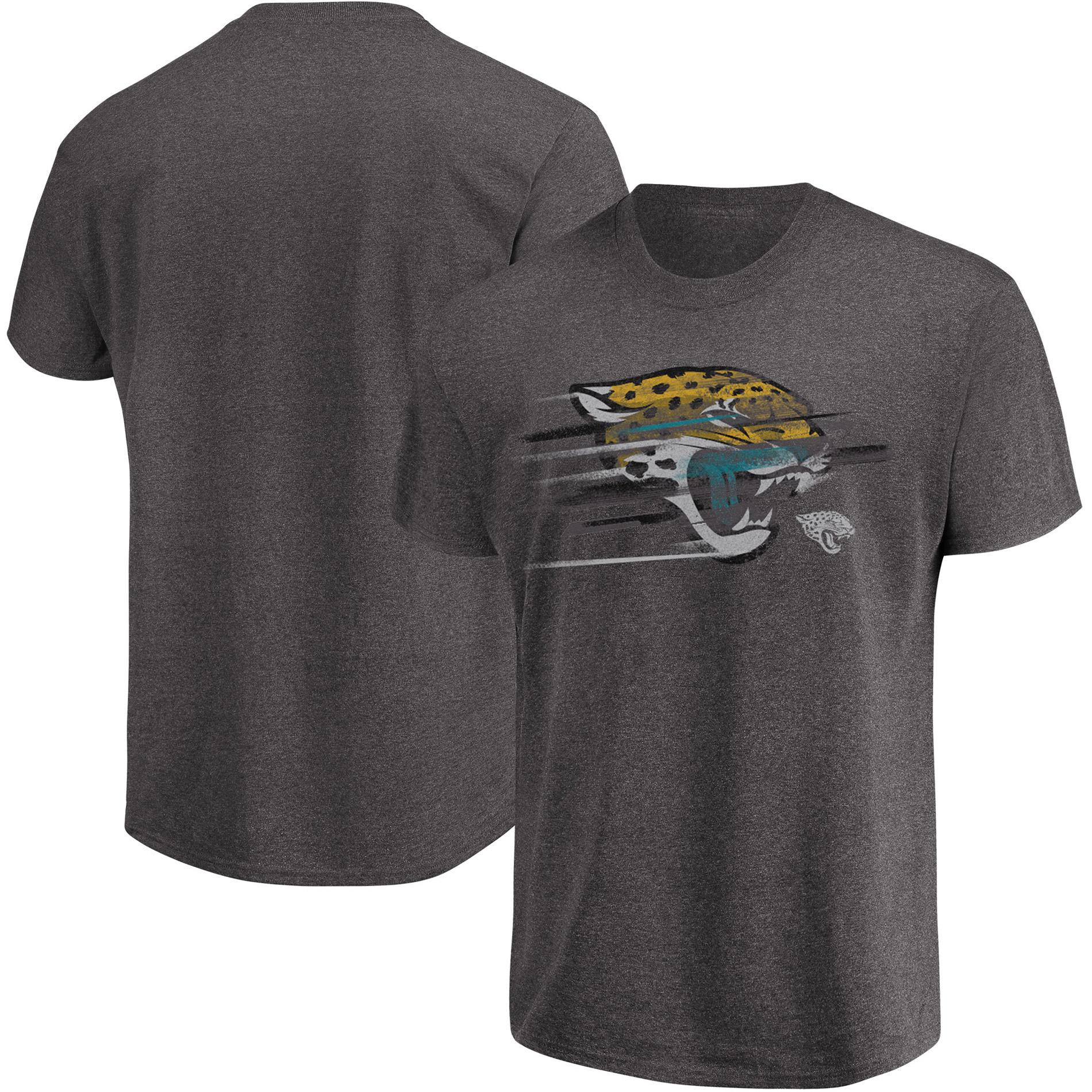 Jacksonville Jaguars Majestic Fierce Intensity T-Shirt - Heathered Charcoal