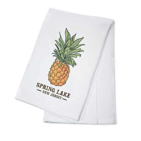 Spring Lake, New Jersey - Pineapple - Icon - Lantern Press Artwork (100% Cotton Kitchen Towel)