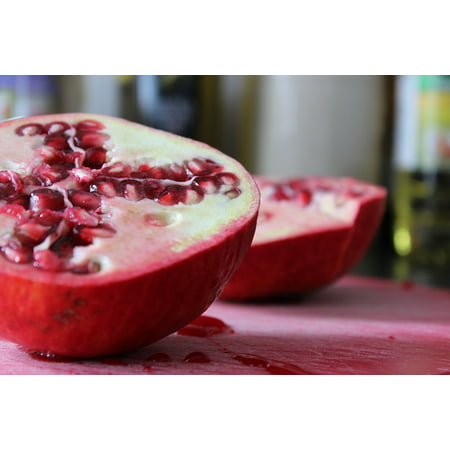 LAMINATED POSTER Fruit Blood Pomegranate Cutting Board Pair Fresh Poster Print 24 x 36