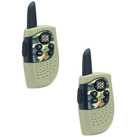 Cobra Hero Special Forces 16 Mile 22 Channel 2 Way Kids Walkie Talkie, Green