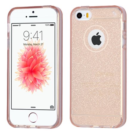 insten glittering rubber glitter case for apple iphone se. Black Bedroom Furniture Sets. Home Design Ideas