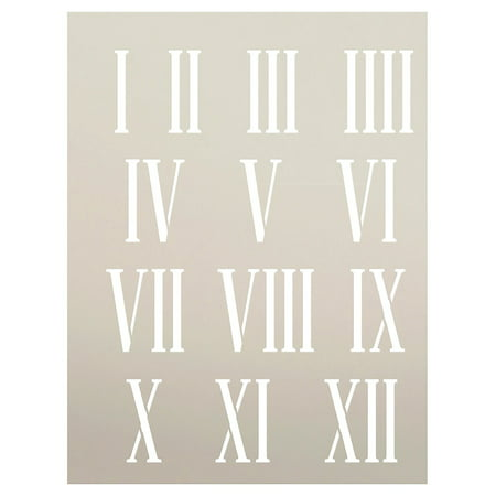 Journal Template (Clock Numerals Stencil by StudioR12 | Roman Numbers Elements - Reusable Mylar Template | Painting, Chalk, Mixed Media | Use for Journaling, DIY Home Decor - STCL185 - SELECT SIZE (6.5