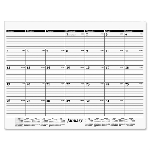 AT-A-GLANCE Recycled Desk Pad Refill - 22 x 17 in. - 2012