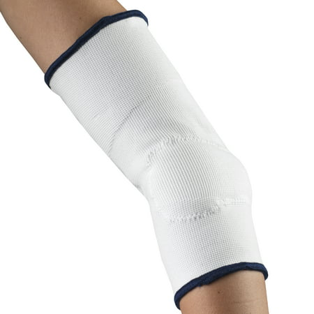 OTC Elbow Support with Viscoelastic Insert, White, (0.75 Insert Elbow)