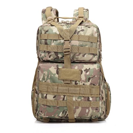 Outdoor Tactical Backpacks for Adults, 3P 45L Outdoor Marching Knapsack Tactical Backpack CP Camouflage - Walmart Camo Backpack