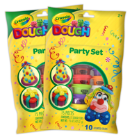 Crayola Dough 30 Count Party Pack of 1oz Cans in 10 Colors, 30oz