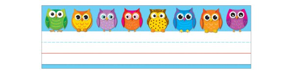 Colorful Owls Desk Nameplates by Colorful Owls