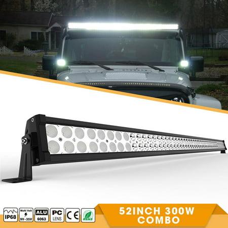 LED Light Bar YITAMOTOR 52 Inch Light Bar Flood Spot Offroad 4WD SUV fog Driving For Jeep 27,000 Lumens 300W,2-Year (Four Wheel Drive Suv)
