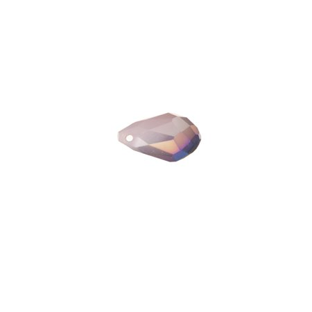 AB2x coated violet opal faceted briolette drop crystal beads top-drilled 8x13mm. (Pack of 40-Beads)