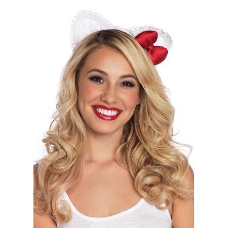 Leg Avenue Adult Hello Kitty Lace Ear - Hello Kitty Makeup For Halloween