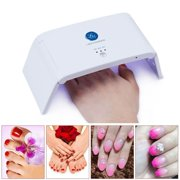 Lagunamoon UV Gel Nail Polish Kit Pearl White 6W LED Lamp w/ Base - Best Reviews Guide