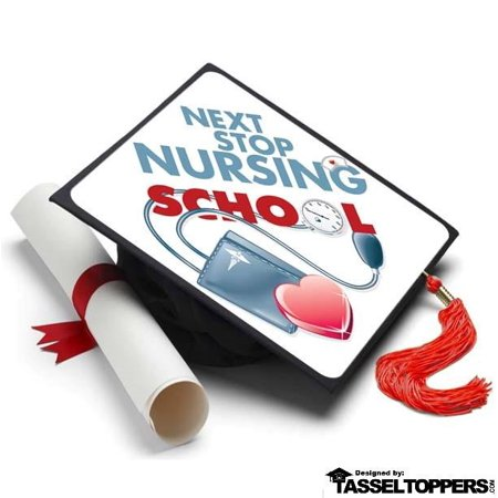 Nursing Graduation Cap Decorations (Next Stop Nursing School Grad Cap Tassel Topper - Graduation Cap Decorations, Grad Hat Decorating)