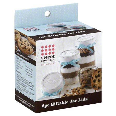 Sweet Creations 3 pack Giftable Mason Jar Lid