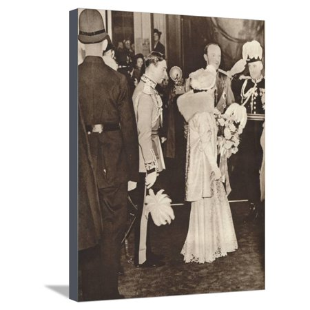 King George Vi and Queen Elizabeth Leaving a Luncheon in Honour of Coronation, 1937 Stretched Canvas Print Wall