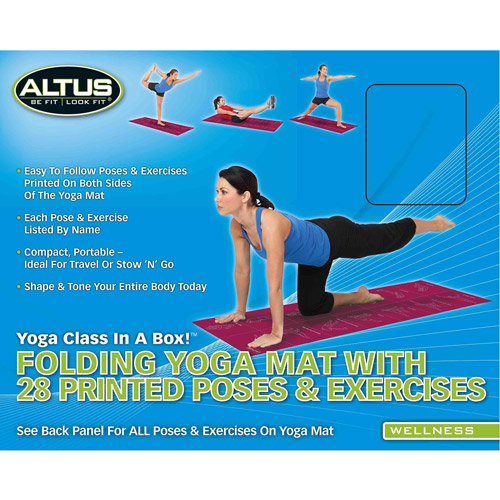Altus Be Fit Look Fit Folded Yoga Mat